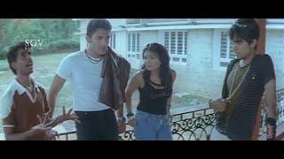 Karthik and friends in Forest for Shooting Film   Kannada Comedy Scenes   Belli Modada Ambara