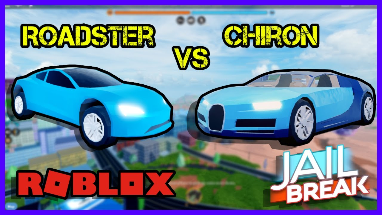 Bugatti Chiron Is Faster Than Roadster Roblox Jailbreak Youtube