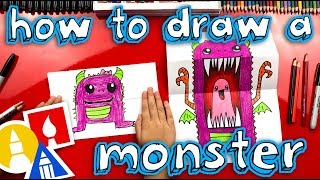 How To Draw A Scary Cute Monster With Folding