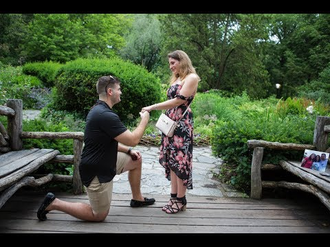 Enchanting Marriage Proposal at the Shakespeare Garden
