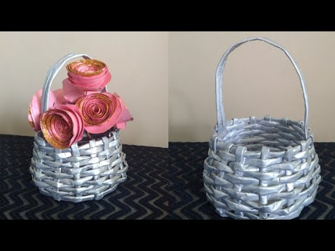 How To Make Newspaper Basket | paper craft ideas | parul pawar