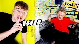 I PRANKED My Little Brother's ROOM for 24 Hours... CHALLENGE!!
