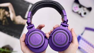 Audio Technica ATH-M50X PURPLE - Bluetooth