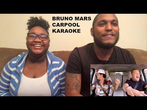Bruno Mars Carpool Karaoke-REACTION VIDEO
