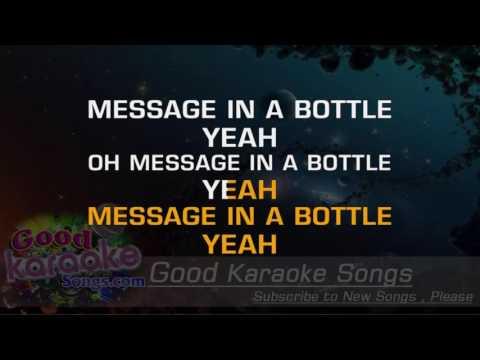 Message in a Bottle -  The Police (Lyrics Karaoke) [ goodkaraokesongs.com ]