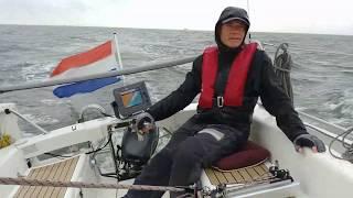 Waddenweek 2019 Etapclub. Zeilen met etap 21i op waddenzee van Den Oever naar Texel