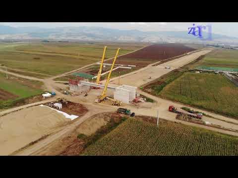 Video, autostrada Sebes Turda, lotul, prima grinda la Calea Vacii, 29 august 2018