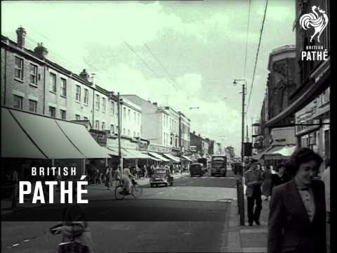 London High Street With Shops (1952)