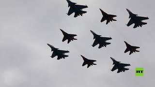 أكثر من 70 طائرة ومروحية عسكرية تشارك في بروفة العرض العسكري في موسكو