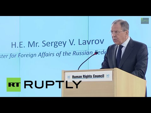 LIVE: Lavrov's addresses UN Human Rights Council on protection of Orthodox Christians - ENGLISH