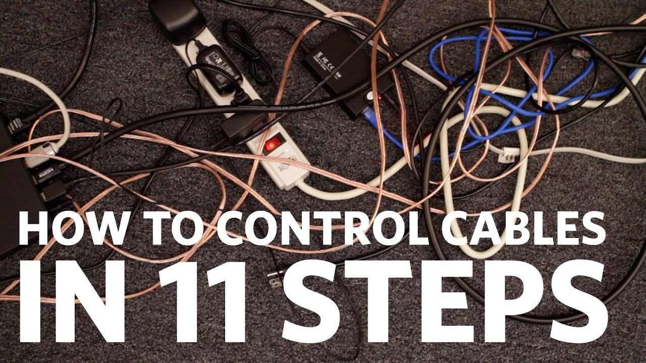 Easy Cable Management: Control Your Cables in 11 Steps - YouTube
