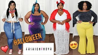 WATCH ME TRANSFORM! FRIDA KAHLO, UNICORN & MORE! FASHION NOVA PLUS SIZE HALLOWEEN HAUL!