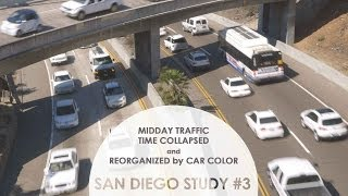 Midday Traffic Time Collapsed and Reorganized by Color: San Diego Study #3