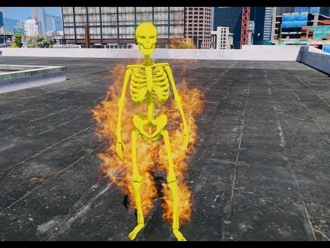 GTA 5 - SPC-060 Bộ xương bốc cháy   GHTG