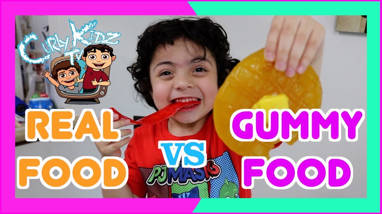 Gross Real Food Vs Gummy Food Challenge Giant Gunmy Candy