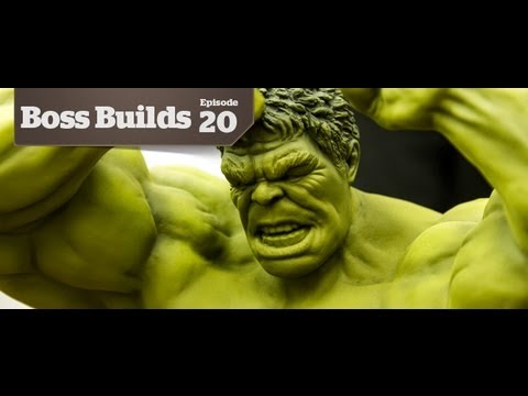 Base Coating the 1/9 Avengers: Hulk | Boss Builds 20