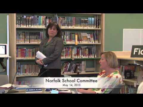 Norfolk School Committee 5/14/13