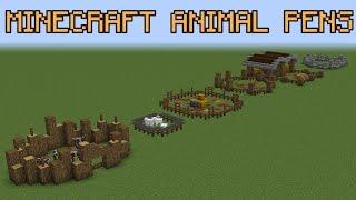 Minecraft Animal Pen Ideas!