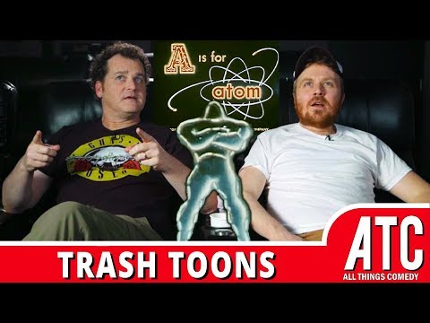 A is for ATOM! Dave Anthony & Gareth Reynolds on GE Nuclear Energy Cartoon : TRASH TOONS
