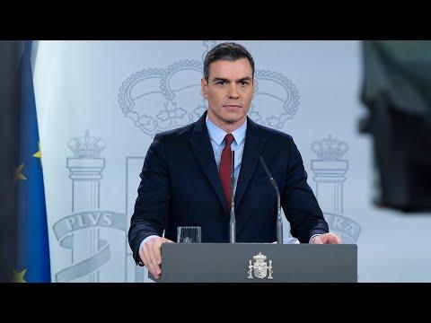 VÍDEO Pedro Sánchez anuncia las medidas del Estado de Alarma contra el coronavirus
