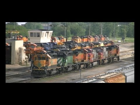 BNSF Galesburg Yard Operations, June 28 and 29, 2014