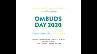 International Ombuds day 2020. Part 2.