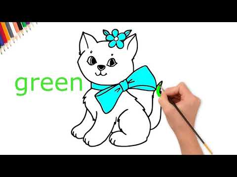 cat-coloring-pages- -kids-coloring-learning-videos