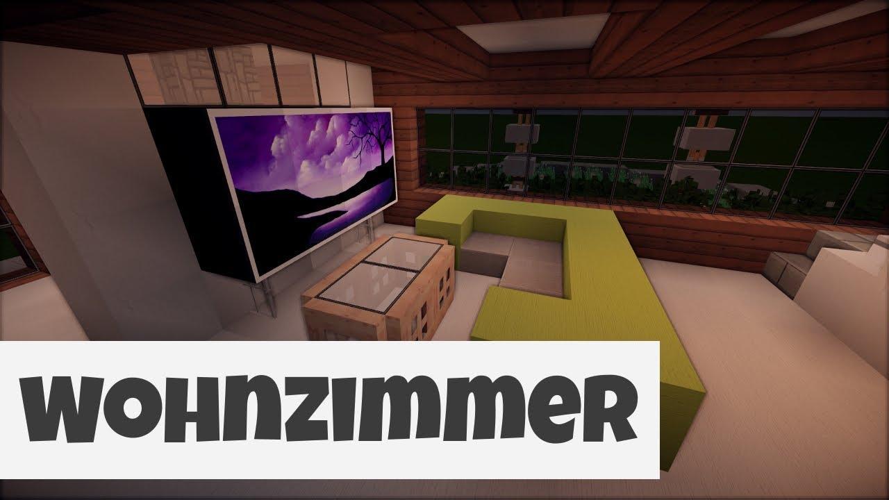 Modernes Wohnzimmer Minecraft Minecraft Inneneinrichtung Ideen