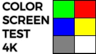 Darish zone presents a simple color video test at 4k resolution (3840x2160 pixels) to check for dead pixels and the accuracy of tones on televisions, m...