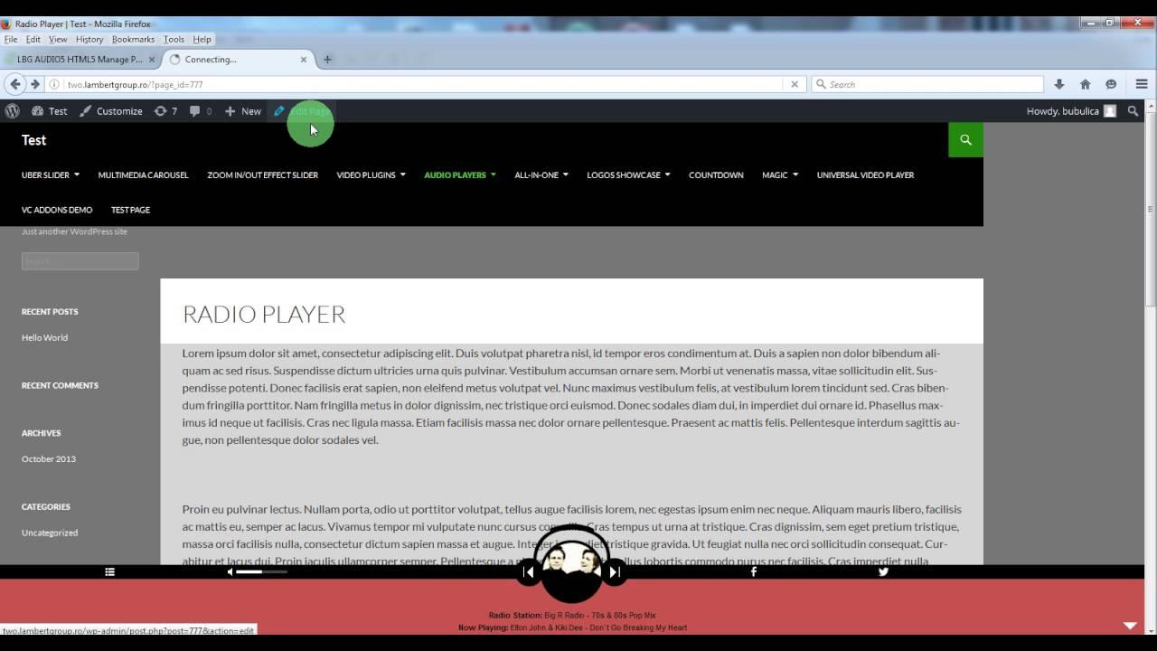 Shoutcast Radio Player For My Website
