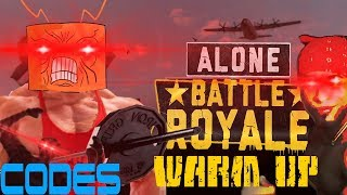 ROBLOX- ALONE: Battle Royale: Warming Up Like A Pro (+CODES)
