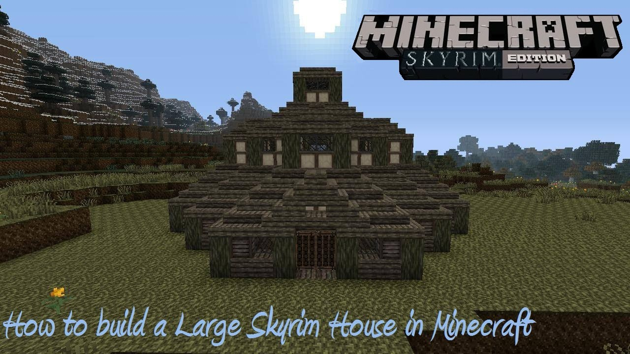 How to build a Large Skyrim House in Minecraft  YouTube