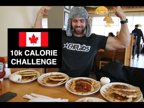 10,000 Calorie Challenge Canadian Edition | EPIC 10k Food Challenge Cheat Day