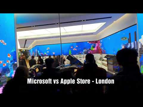 London's Microsoft Store Vs Apple Store - What's The Difference?