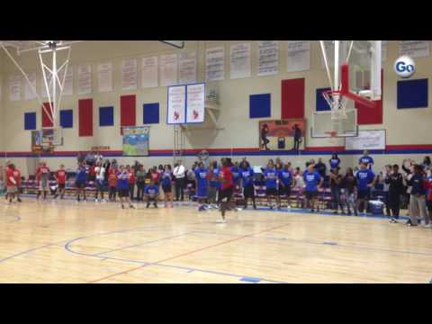 Zion Williamson dunks at Ball4Good game Spartanburg Day School