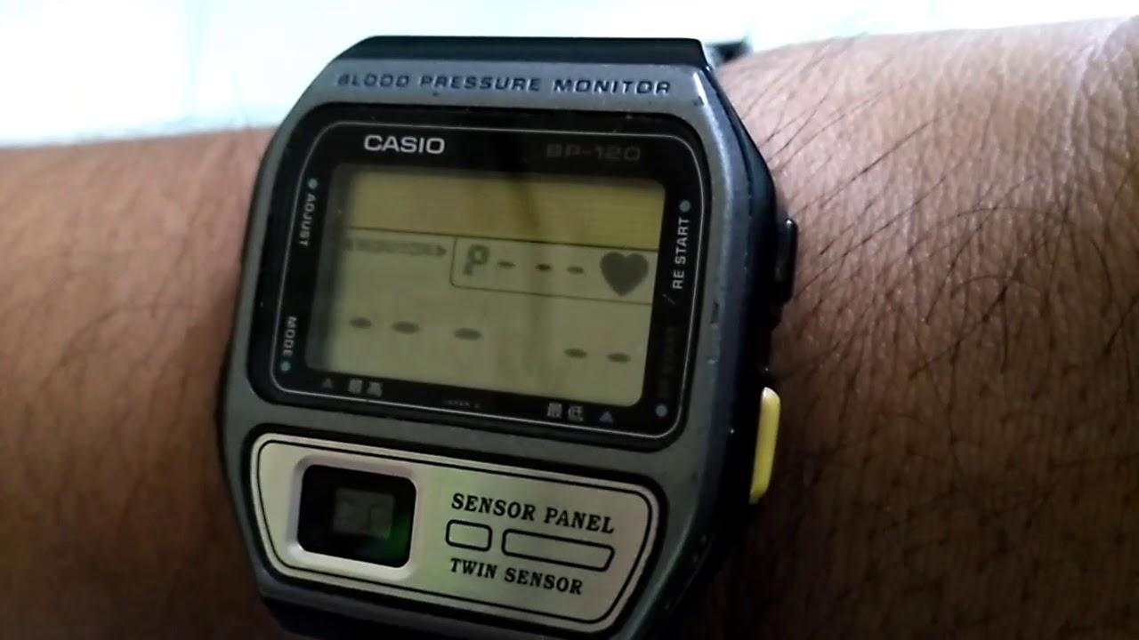 Vintage Casio BP-120 blood pressure monitor watch full testing