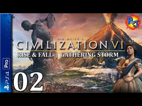 Let's Play Civilization VI PS4 Pro | Victoria England Gameplay Ep 2 | Civ 6 Console Expansion Bundle