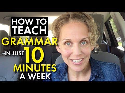 Grammar Lessons That Work, Teach Grammar in Just 10 Min. a Week, High School Teacher Vlog
