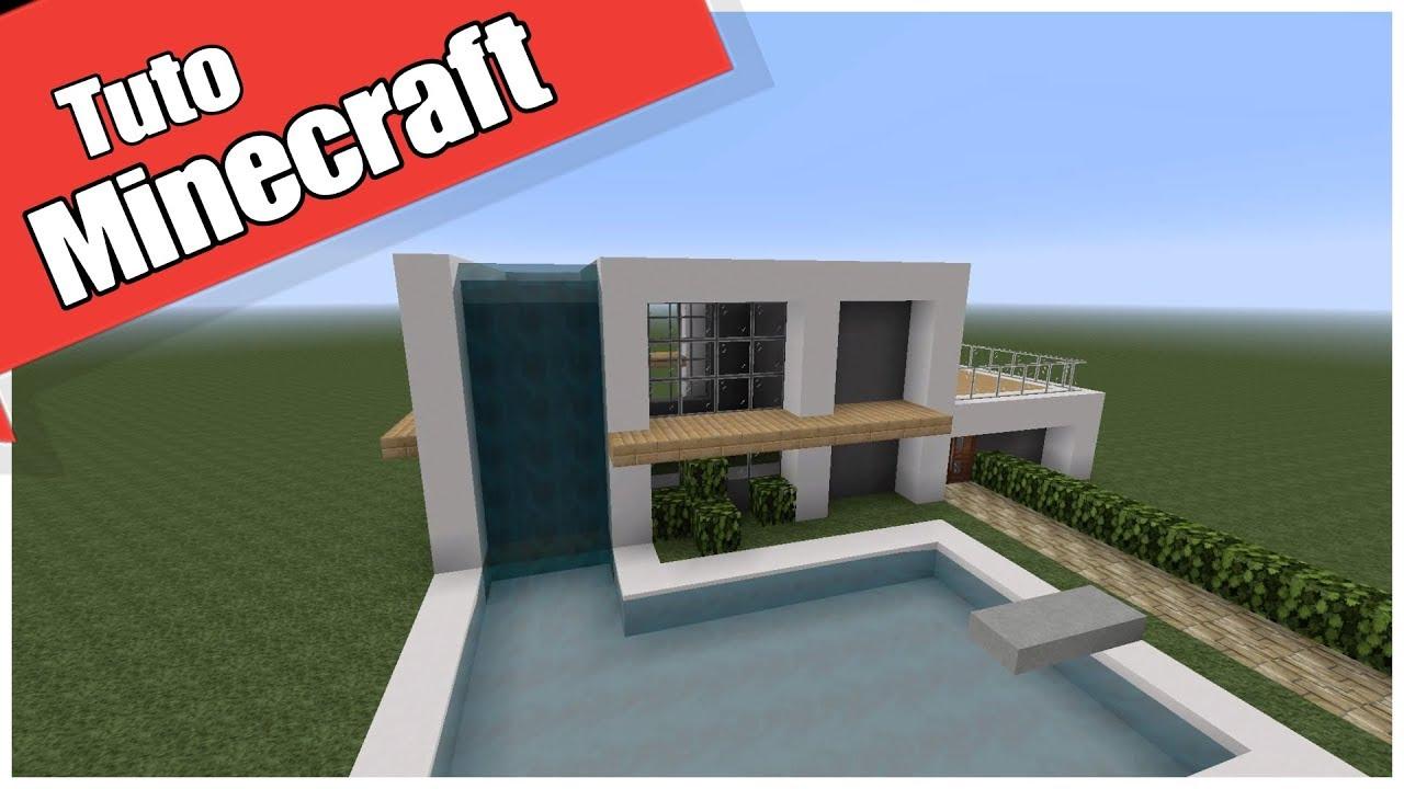 Tuto! Maison moderne de luxe Facile à faire . Minecraft