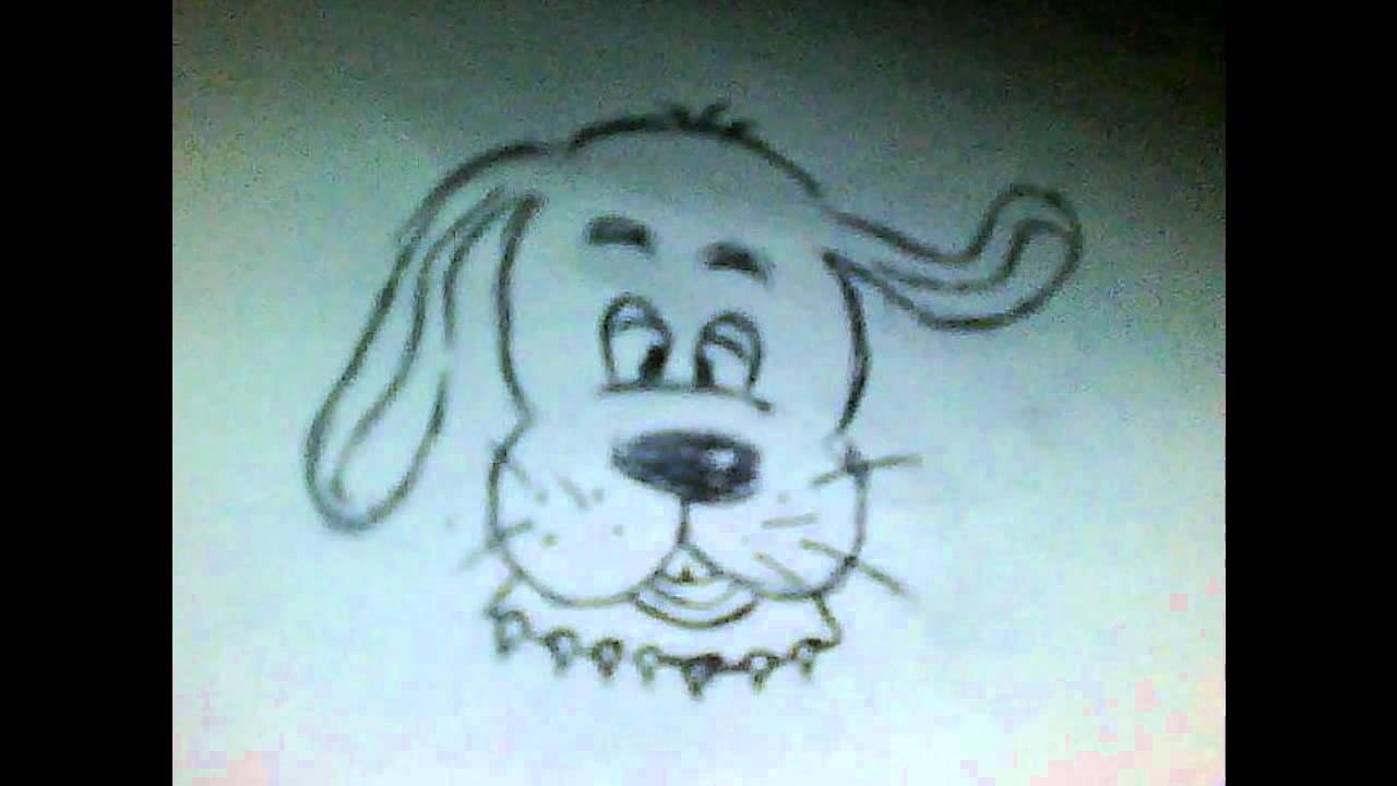 Dessin d une tete de chien le plus simple ki y youtube - Dessin chien simple ...