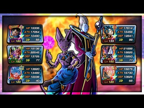*NEW* 100% LR BEERUS AND WHIS SHOWCASE! THE POWER OF DEITIES! | Dragon Ball Z Dokkan Battle