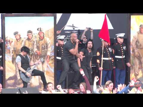 """Pop Evil """"Trenches""""  With D.M.C. And U.S. Marines  Live @ Rock On The Range 2014"""