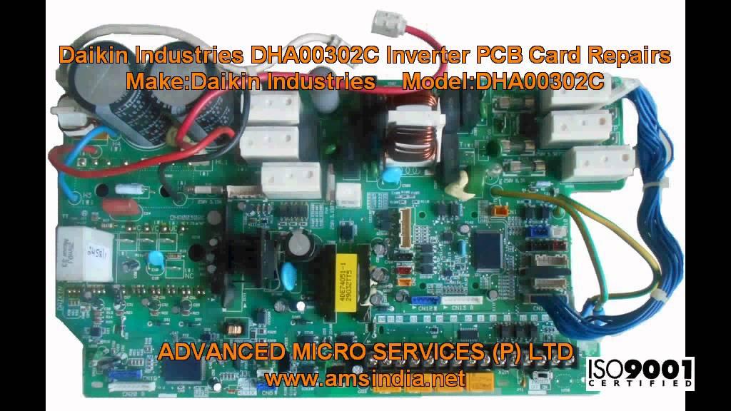 Mitsubishi Inverter Wiring Diagram Daikin Industries Dha00302c Inverter Pcb Card Repairs
