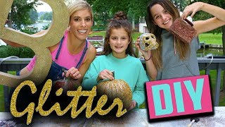 Easy and Fun Fall Glitter DIY's with Rebecca Zamolo and Annie LeBlanc