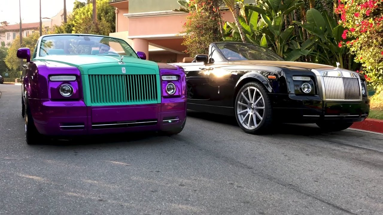 Rdbla Crazy Purple Rolls Royce Rodeo Dr Has Never Seen This Youtube