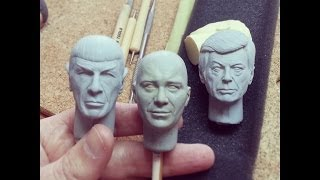 How I sculpt 1/6 scale heads with wax...