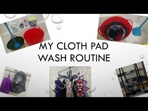 From Soiled to Stain Free - My Cloth Pad Washing Routine (Featuring the Washing Wand)