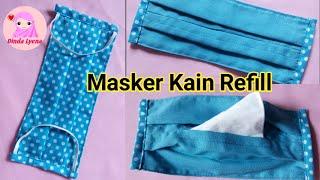 Masker kain refill ini sangat mudah dibuat. bisa diisi tisu biasa. semoga bermanfaat. with love, dinda lyena