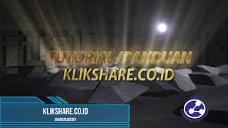 Tutorial Join klikshare co id 1