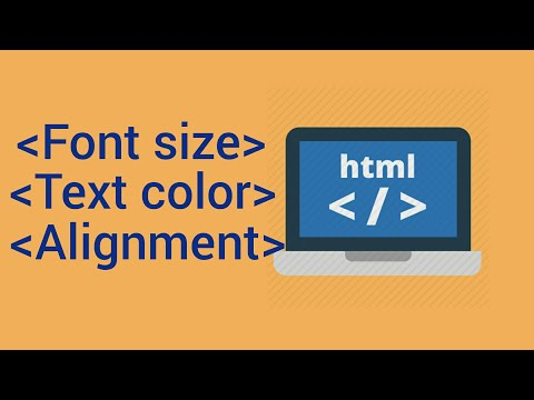 HTML Tutorial For Beginners In Hindi | Font Size | Text Color | Alignment |